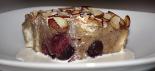 Slice of Cherry Almond Bread Pudding