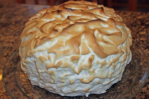 The Daring Baker's Challenge: Baked Alaska with Honey Strawberry Ice ...