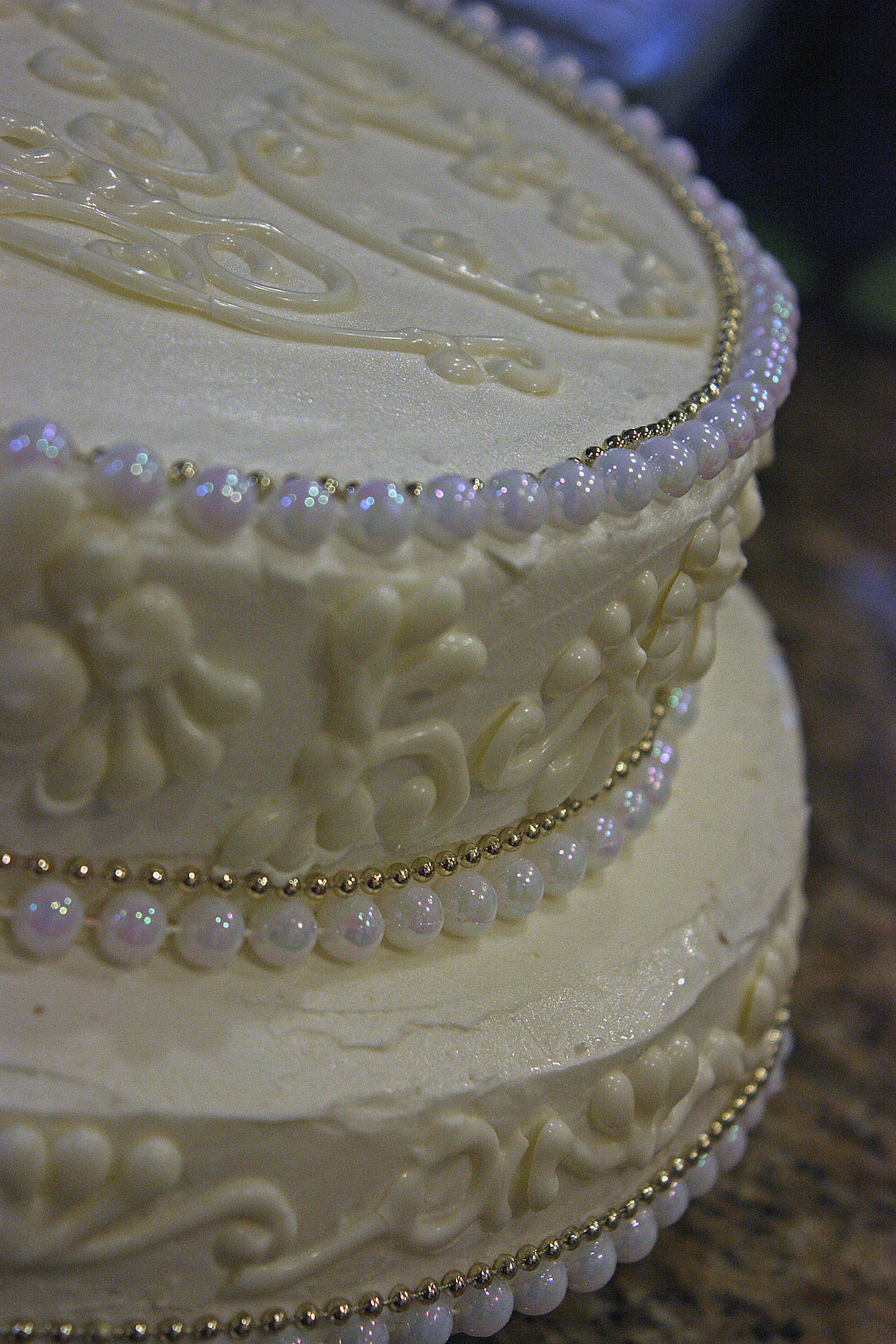 White Chocolate Wedding Cake For A Small Wedding Simply