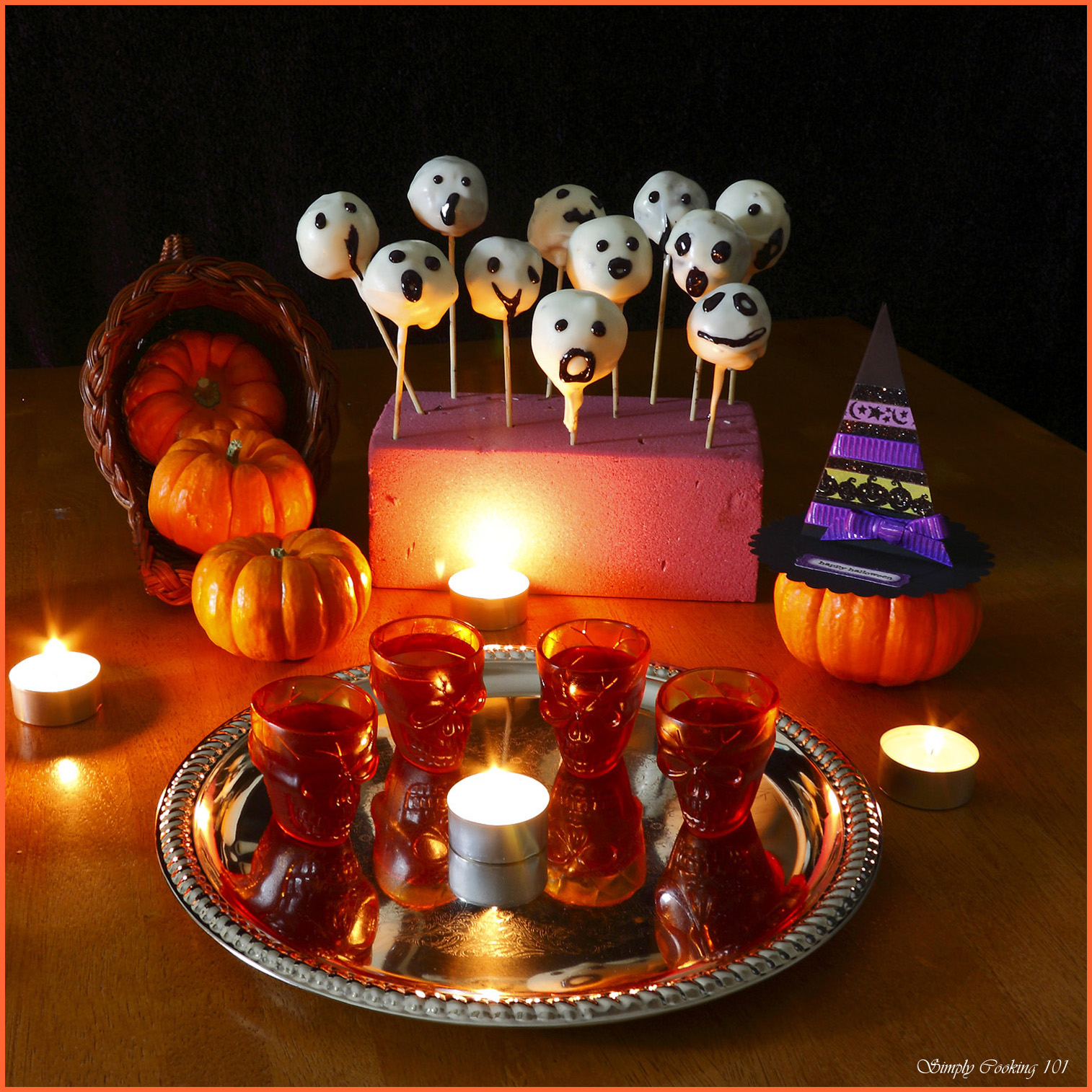 halloween cake pops – ghosts and witches hats – simply cooking 101