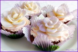 Chocolate Cherry Cupcakes with White Chocolate Roses